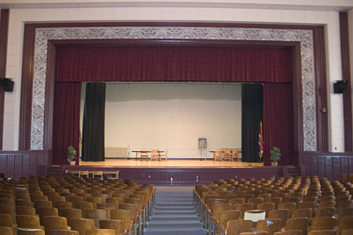 East auditorium stage.  Taken April 8th, 2005.