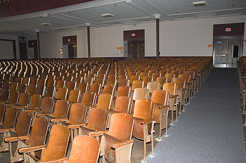 East auditorium seats.  Taken April 8th, 2005.